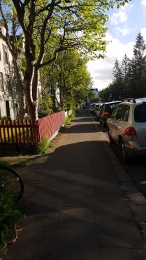 Wonderful street in Reykjavik